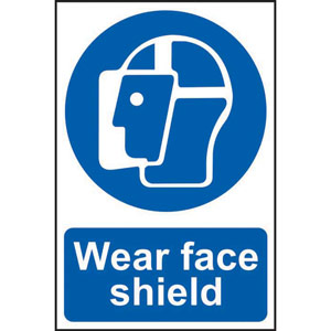 Mandatory Self-Adhesive PVC Sign (200 x 300mm) - Wear Face Shield