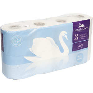harmony soft luxury 3ply toilet roll - 7 x pack of 8