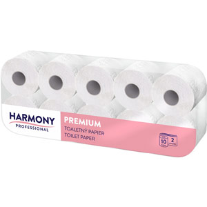harmony professional 2ply pure premium toilet roll (pack of 10)
