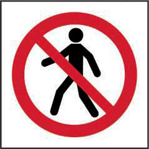 Prohibition Rigid PVC Sign (400 x 400mm) - No Thoroughfare Symbol