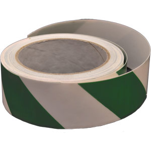 Green Chevron Photoluminescent Tape - 40mm x 10m
