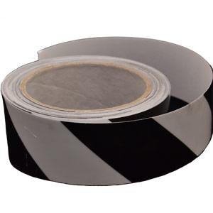 Black Chevron Photoluminescent Tape - 40mm x 10m