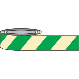 Green Chevron Photoluminescent Tape - 80mm x 10m