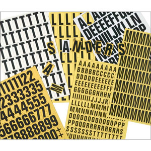 Magnetic Number Set - 17mm (Yellow)