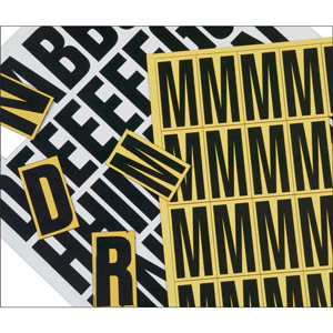 Magnetic Letter Set - 39mm (Yellow)