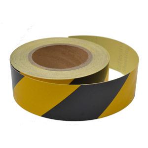 Black/Yellow Reflective Tape - 50mm x 25m
