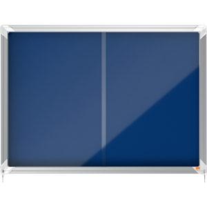 Nobo Sliding Door Internal Glazed Case (Blue Fabric) - 8xA4