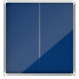 Nobo Sliding Door Internal Glazed Case (Blue Fabric) - 12xA4