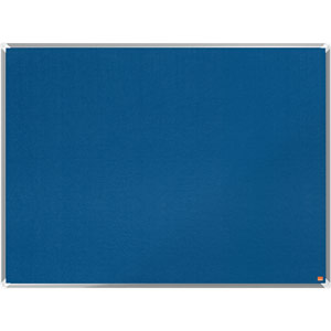 Nobo Premium Plus Blue Felt Notice Board - 1200x900mm