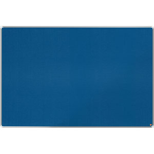 Nobo Premium Plus Blue Felt Notice Board - 1800x1200mm