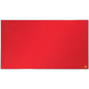 Nobo Impression Pro Widescreen Red Felt Notice Board - 710x400mm