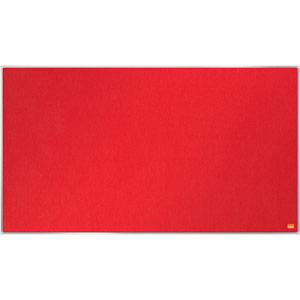 Nobo Impression Pro Widescreen Red Felt Notice Board - 890x500mm