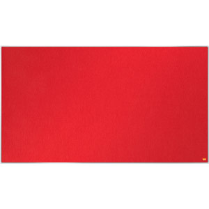 Nobo Impression Pro Widescreen Red Felt Notice Board - 1220x690mm