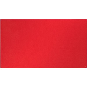 Nobo Impression Pro Widescreen Red Felt Notice Board - 1880x1060mm