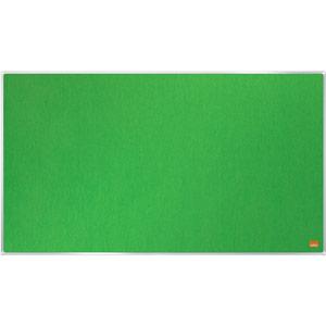 Nobo Impression Pro Widescreen Green Felt Notice Board - 710x400mm