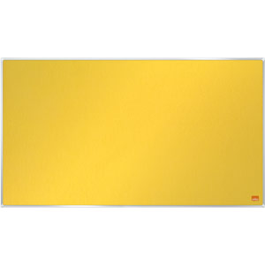 Nobo Impression Pro Widescreen Yellow Felt Notice Board - 710x400mm