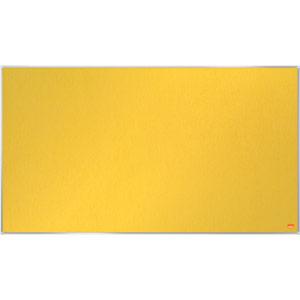 Nobo Impression Pro Widescreen Yellow Felt Notice Board - 890x500mm