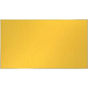 Nobo Impression Pro Widescreen Yellow Felt Notice Board - 1220x690mm