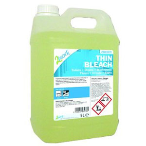 2Work Thin Bleach Fresh Scent - 5 Litre