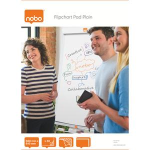 Nobo Flipchart Pad Plain - 580x810mm