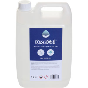 OrcaGel Hand Sanitiser Gel - 70% Alcohol - 5L Refill