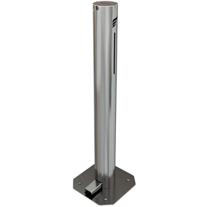 Astreea M Pedal Operated Sanitiser Dispenser - 1 Litre Capacity - Chrome