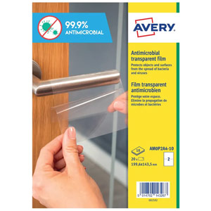 Avery Permanent Antimicrobial Film Labels A4 (Pack of 20) AM0P2A4-10