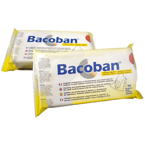 Bacoban Flow Wet Surface Wipes - 50 Wipes