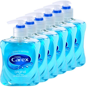 carex antibacterial pump action hand wash soap 250ml