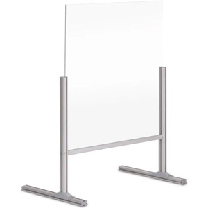Bi-Office Balcony Acrylic Desk Protection Screen - 600x850mm