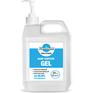 Panodyne Industrial Sanitiser Gel - 70% Alcohol - 2.5 Litres