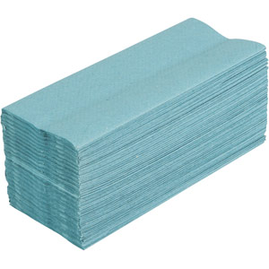 c-fold single ply hand towels (blue) - 2880 sheets