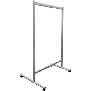 Mobile Partition Wall, Tempered Glass, 1200x1800mm