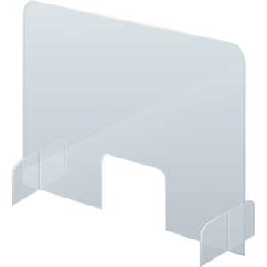Counter & Desk Protection Screen, Acrylic Glass, 850x700mm