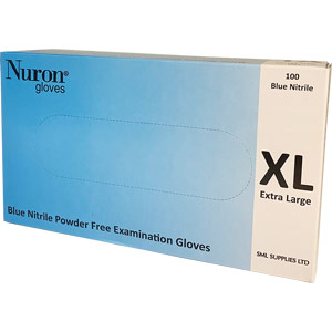 powder-free nitrile gloves - large (box of 100)