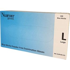 Powder-Free Nitrile Gloves - Large (Box of 100)