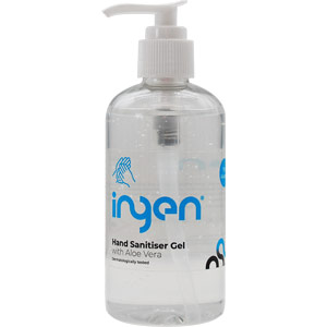 ingen hypersan 75% alcohol gel hand sanitiser - pump bottle (250ml)
