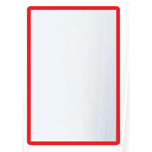 Magnetic A3 4 Docs Frame - Red