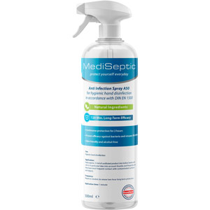 MediSeptic Natural Alcohol-Free Hand Sanitiser Spray (500ml)