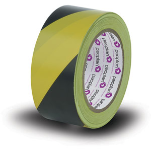 Yellow & Black Floor Masking Tape - 18 Rolls x 33 meters