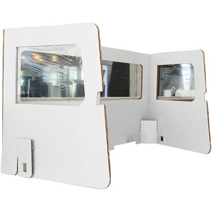 Heavy Duty Cardboard Desk Booth - 1300x700x780mm