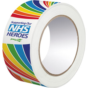 NHS Rainbow Polypropylene Packing Tape 48mm x 66 metres - Box of 36