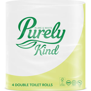 Purely Kind Toilet Roll 2ply Pack of 4 Double Rolls