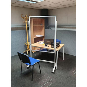 Anti-Virus Floor-Standing Mobile Protection Screen - 900 x 1200 mm (Portrait)