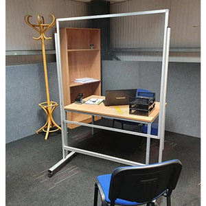 Anti-Virus Floor-Standing Mobile Protection Screen - 1200 x 1200 mm