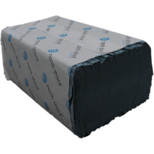 microfold blue single ply hand towels - 3000 sheets