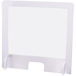 Rigid PVC Sneeze Screens with Polypropylene clear window - 600x600mm