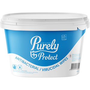 Purely Protect Antibacterial & Virucidal Wipes (Tub of 250 wipes)