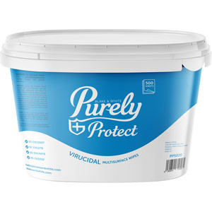 Purely Protect Virucidal Multisurface Wipes (Tub of 500 wipes)