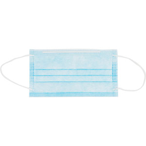 purely protect 3-ply standard type 1 disposable face mask - blue (box of 50)